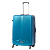 Troler Ella Icon Rainbow, ABS, albastru, 75 x 49 x 30 cm
