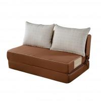 Canapea pentru gradina, modulara, Summer, extensibila, maro 80 x 125 x 30 cm