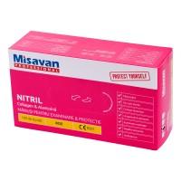 Manusi menaj Misavan fara pudra, marimea M, nitril, roz, 100 buc/set