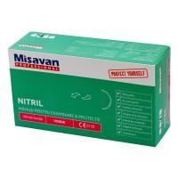 Manusi menaj Misavan fara pudra, marimea L, nitril, verde, 100 buc/set