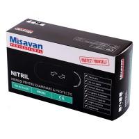 Manusi menaj Misavan fara pudra, marimea M, nitril, negru, 100 buc/set