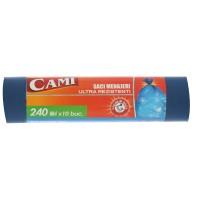 Saci menajeri / gunoi Cami, ultra rezistenti, albastru, 240L, 10 buc