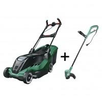 Masina de tuns iarba, electrica Bosch Advanced Rotak 750, 1700 W + trimer Bosch Art 26 SL