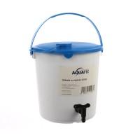 Galeata apa Aquafix, alba, pentru gradina, cu robinet, 14L