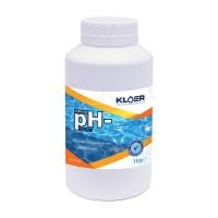 Corector pH minus, Kloer, solid, pentru apa piscina, 1 kg