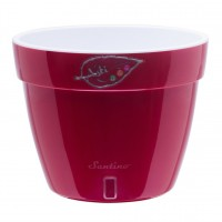 Ghiveci din plastic Asti, cu sistem de autoudare, rosu-alb, 15 l, D 32 cm