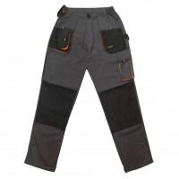 Pantaloni pentru protectie Classic Simplu, tercot, poliester + bumbac, gri inchis, negru, portocaliu, marimea 58