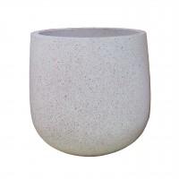 Ghiveci din ciment DHH005, rotund, 37 x 37 cm
