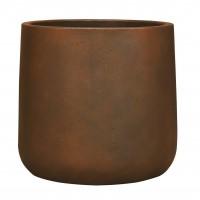 Ghiveci din ciment JP17.017.40.2, maro ruginiu, rotund, 30 x 32 cm