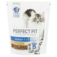 Hrana uscata pentru pisici, Perfect Fit Indoor 1+, adult, carne de pui, 750g