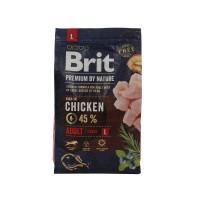 Hrana uscata pentru caini Brit Premium, adult L, carne de pui, 3 kg