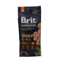 Hrana uscata pentru caini Brit Premium, adult M, carne de pui, 15 kg
