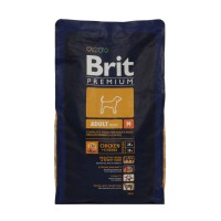 Hrana uscata pentru caini Brit Premium, adult M, carne de pui, 3 kg