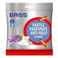 Bile parfumate antimolii Bros, lavanda, 20 buc/cutie