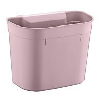 Cos gunoi suspendat Plastina 7157 din plastic, forma dreptunghiulara, roz, 5L