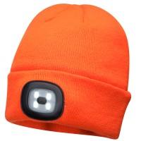 Caciula LED Hi Vis B029, acril, portocaliu