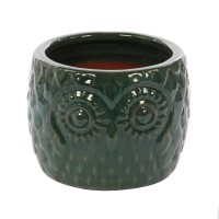 Ghiveci ceramic KP20180123, verde, 35 x 27 cm