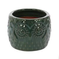 Ghiveci ceramic KP20180123, verde, 27 x 20 cm