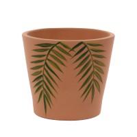 Ghiveci ceramic, teracota, 18 x 16 cm