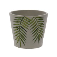 Ghiveci ceramic, gri, 33 x 30 cm
