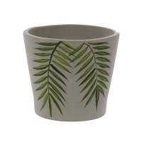 Ghiveci ceramic, gri, 26 x 23 cm