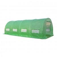 Solariu pentru gradina, structura metalica + folie polietilena, 6 x 3 x 2 m