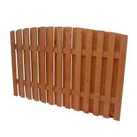 Gard lemn, Rustic, pentru gradina, solid, 180 x 200 cm