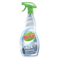 Solutie pentru curatarea suprafetelor din inox cu pulverizator Nufar 500 ml