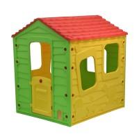 Casuta copii 13561, pentru gradina, din plastic, interior / exterior, 118.5 x 106 x 126.5 cm