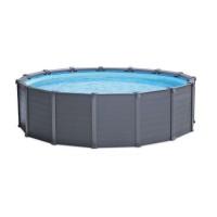 Piscina cu cadru metalic, Intex 26384NP, rotunda, cu pompa de filtrare + panou protectie,  478 x 124 cm