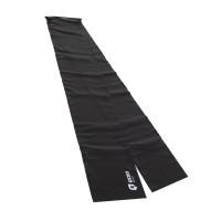 Banda elastica pentru fitness Qizo, cu rezistenta medie, negru, 150 x 15 cm