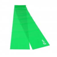 Banda elastica pentru fitness Qizo, cu rezistenta mare, verde, 150 x 15 cm