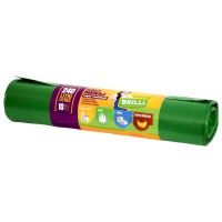 Saci menajeri / gunoi Brilli, pentru colectare selectiva, super rezistenti, verde, 240L, 10 buc