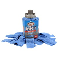 Rezerva mop microfibra Misavan, marimea M, albastru