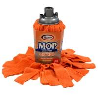 Rezerva mop microfibra Misavan, marimea M, orange