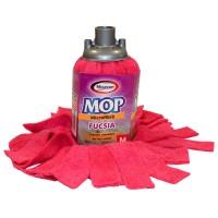 Rezerva mop microfibra Misavan, marimea M, fucsia