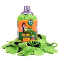 Rezerva mop microfibra Brilli, marimea L, verde