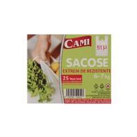 Sacose groase Cami, 51 microni, 6-7 kg, 25 buc / set