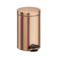 Cos gunoi Meliconi din metal, forma cilindrica, cupru, cu pedala si capac batant, 14L