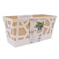 Jardiniera plastic Mozaic, interior / exterior, orange, 40 x 17 x 20 cm