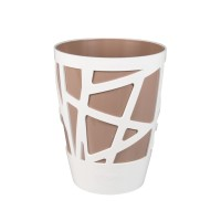 Ghiveci din plastic Mozaic, rotund, cafeniu, D 13 cm