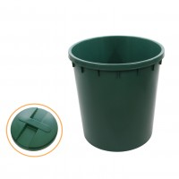 Butoi plastic Dolplast, cu capac, verde 250 litri
