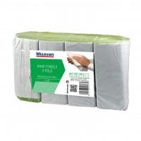 Prosop hartie pliat V premium Misavan, verde, 250 bucati / set, 4 seturi / tipla