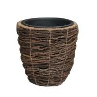 Ghiveci din fibra de cocos, maro, D 24 cm