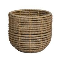 Masca ghiveci, rotunda, din fibra de cocos, natur, D 29 cm