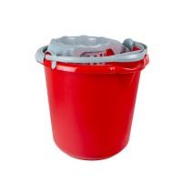 Galeata din plastic cu storcator Plastina, rosu, 10L
