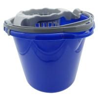Galeata din plastic cu storcator Plastina, albastru, 10L