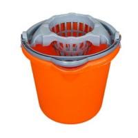 Galeata din plastic cu storcator Plastina, portocaliu, 10L