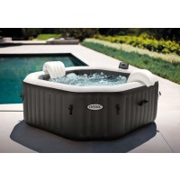 Piscina gonflabila Intex Pure Spa Jet Bubble 28458, cu masaj, 201 x 71 cm