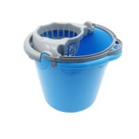 Galeata din plastic cu storcator Plastina, bleu, 10L